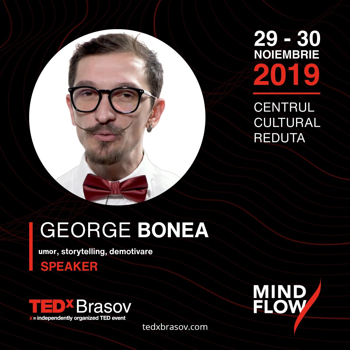 În timp ce speakerii motivaționali se ocupă cu input-uri emoționale speakerul DEmotivațional George Bonea se ocupă cu output-uri emoționale.